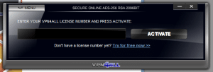 VPN4ALL client awaiting license number