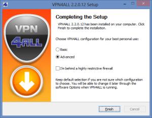 VPN4ALL Windows 8 installer