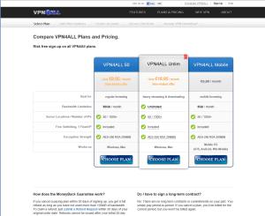 VPN4ALL account options