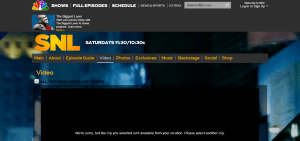 NBC's Saturday Night Live, viewed from Ireland