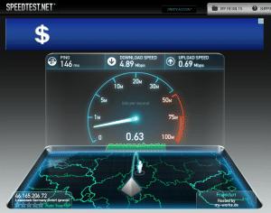 VPN4ALL speedtest Frankfurt