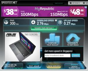 VPN4ALL speedtest Singapore