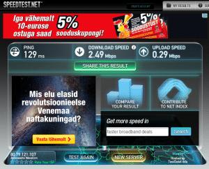 VPN4ALL speedtest Talinn