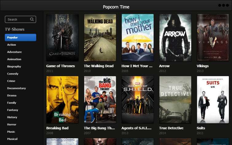 popcorn time tv