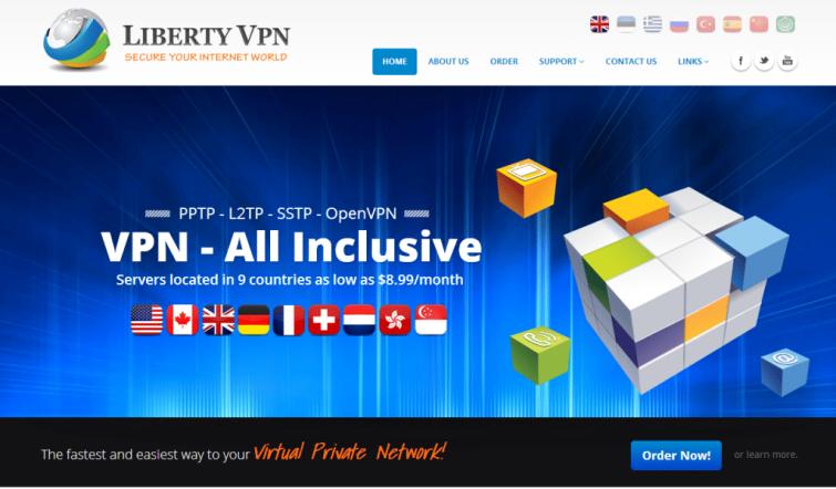 LibertyVPN_Homepage