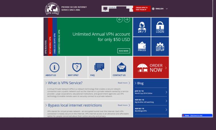 VPNLand_Homepage