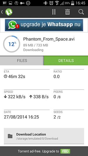 uTorrent file details