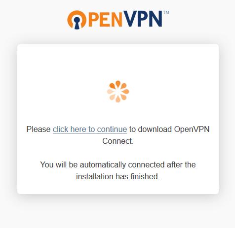 Klien masuk openvpn 2