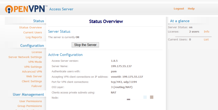 Openvpn installed