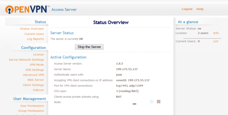 OpenVPN installed on a VPS