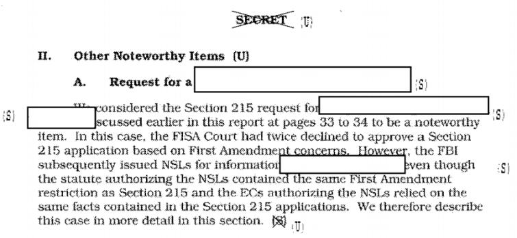 FISA Court NSL