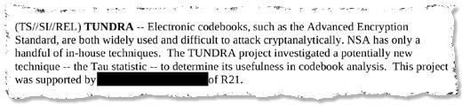 NSA TUNDRA