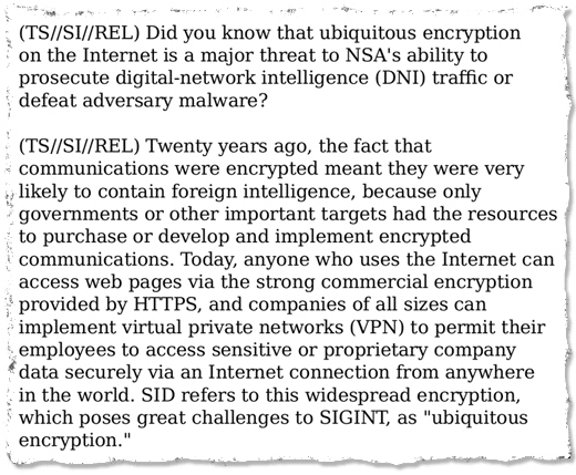 Ubiquitous encryption