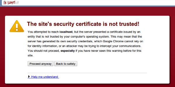 SSL cert untrusted