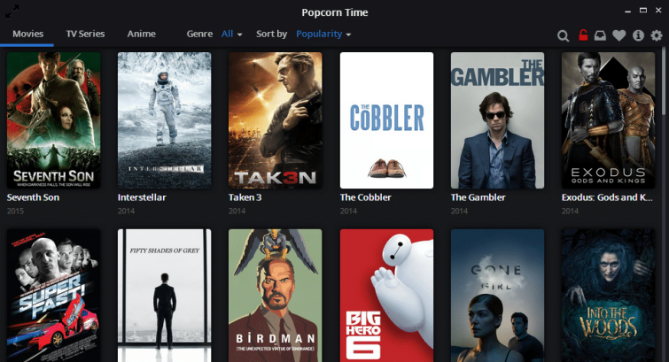 Popcorn Time March 2015