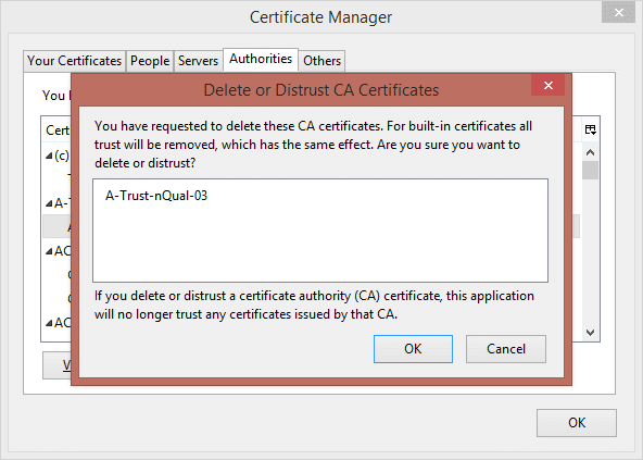 Firefox root certs 2