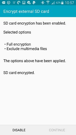 diable SD encryption