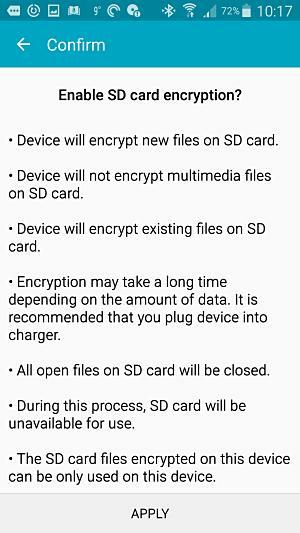 SD card encrypt