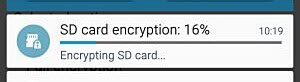 SD encryption ongoing
