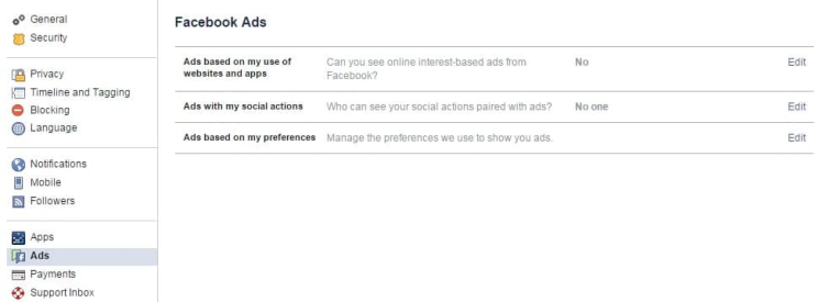 Social Ads Off