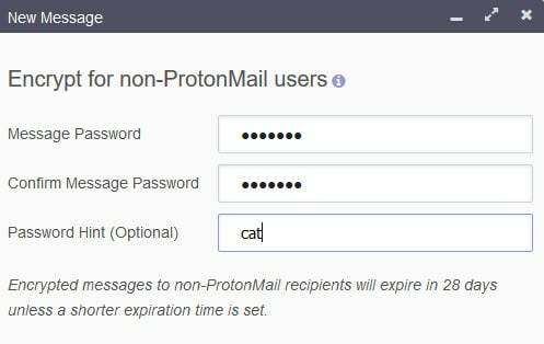 ProronMail send email