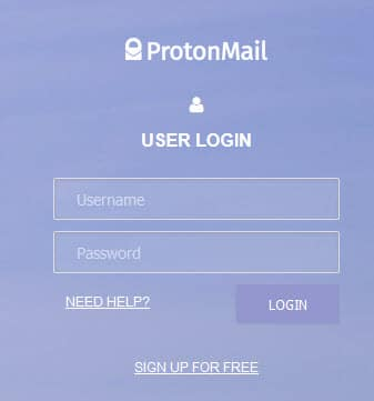 ProtonMail sign-in 1