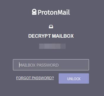 ProtonMail sign-in 2