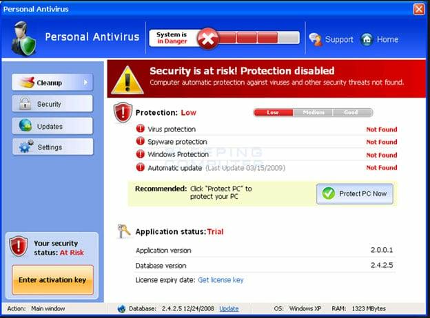 ransomware fake anti-virus