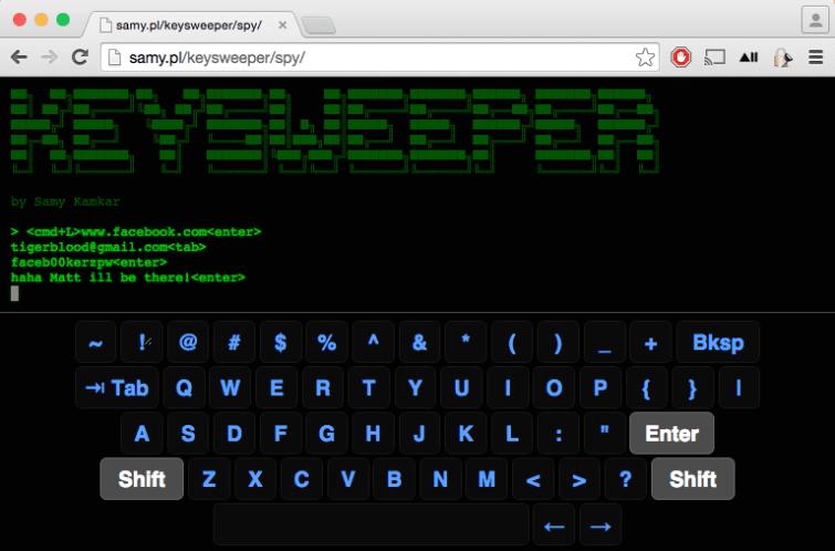 Keysweeper spy software