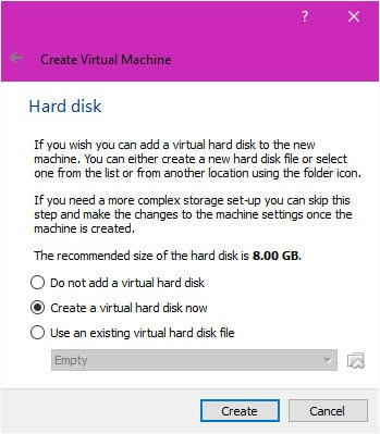 how to create a parent folder in vm box