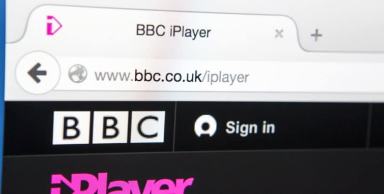 BBC iPlayer address bar