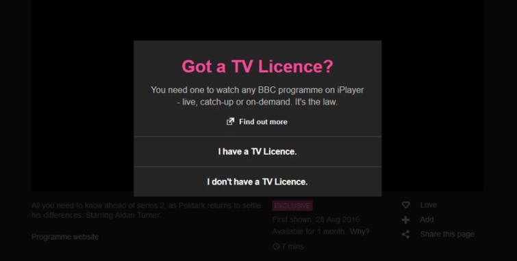 BBC iPlayer September 2016