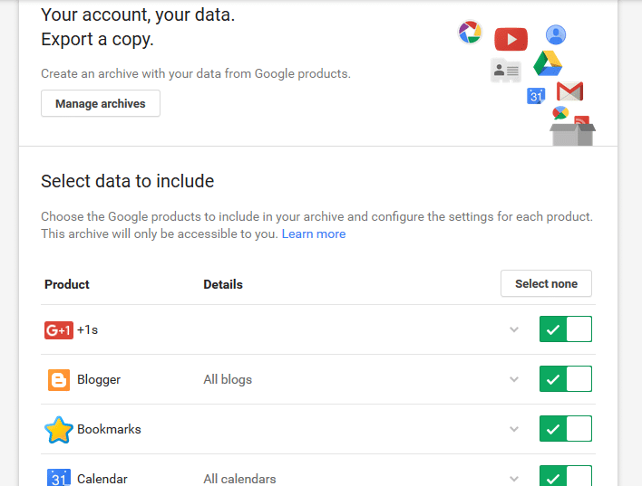 download Google archive
