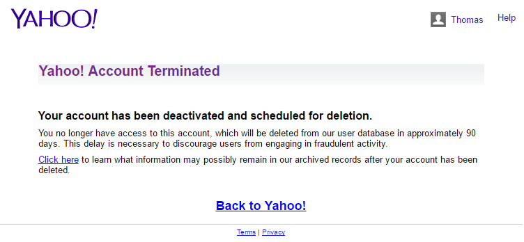 How to Delete a Yahoo Account - 13.3KB