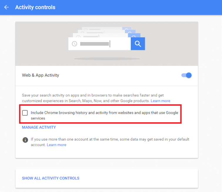 Google Privacy Settings
