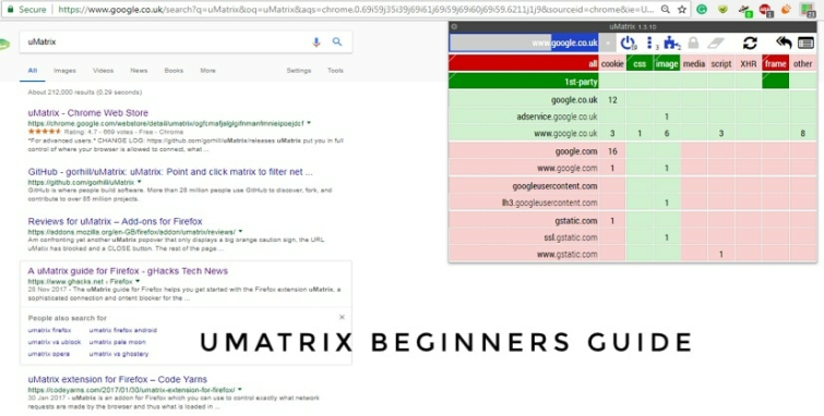 How to setup uMatrix a beginners guide
