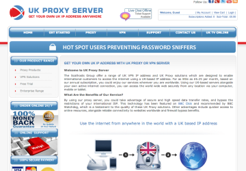 UK Proxy Server Logo