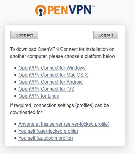Download ovpn file