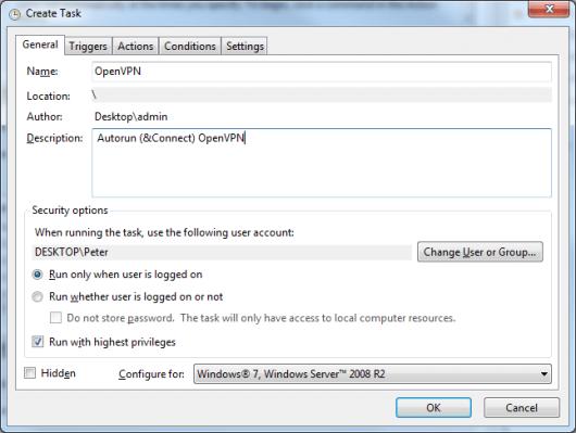 OpenVPN AutoRun and AutoConnect