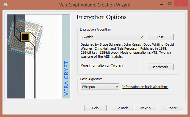 VeraCrypt full disk encryption
