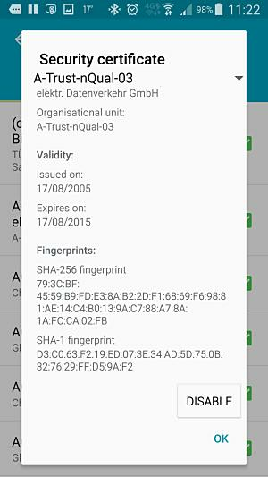 Android root certs 2