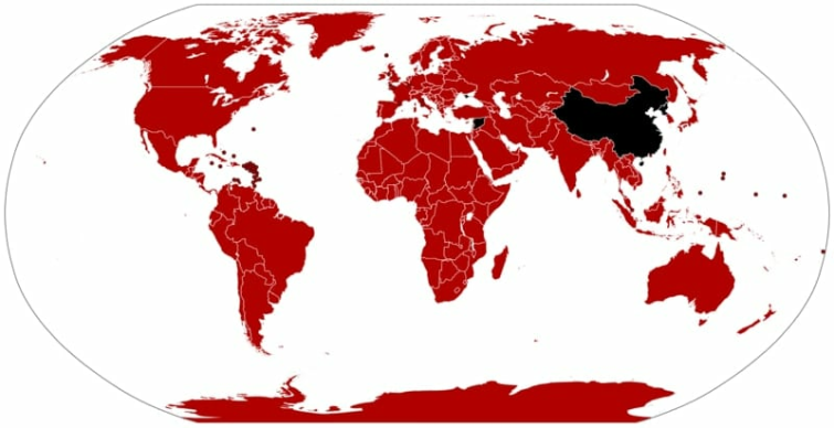 A map of Netflix coverage