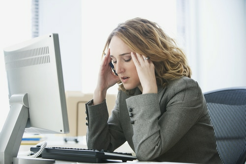 Stressed Woman Bitcoin