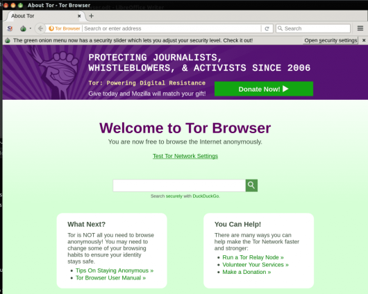 tor browser look
