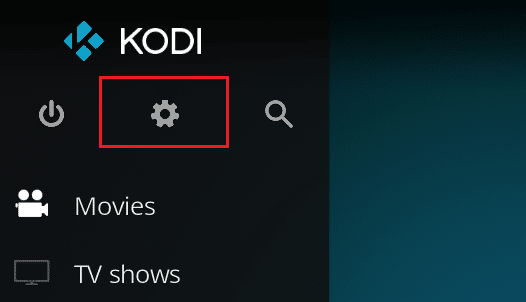 Kodi Settings access