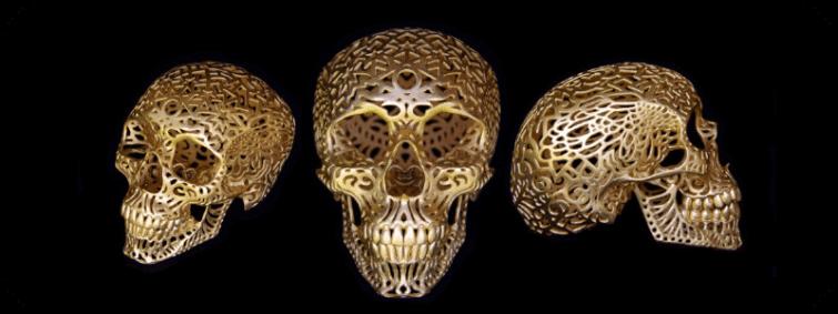 Artistic Skull Sculptures