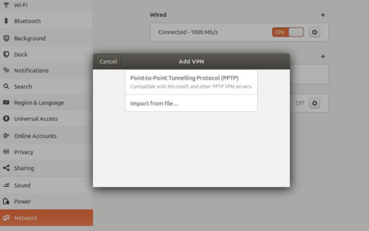 Setting up VPN on Linux