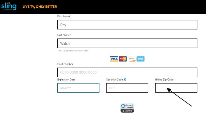Virtual Card Zip Code