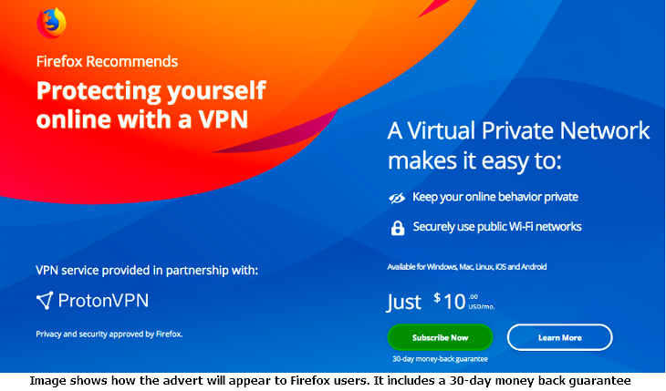 ProtonVPN and Mozilla partnership