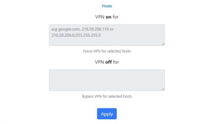 Flashrouters VPN Hosts